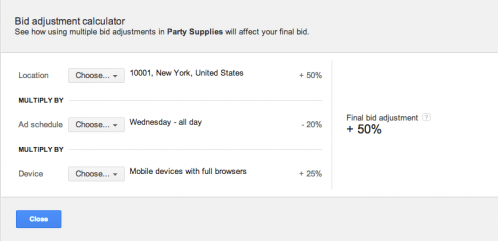 AdWords Enhanced: Bid Adjustment Calculator