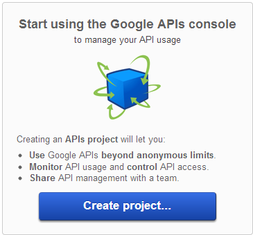 google-api-create-project