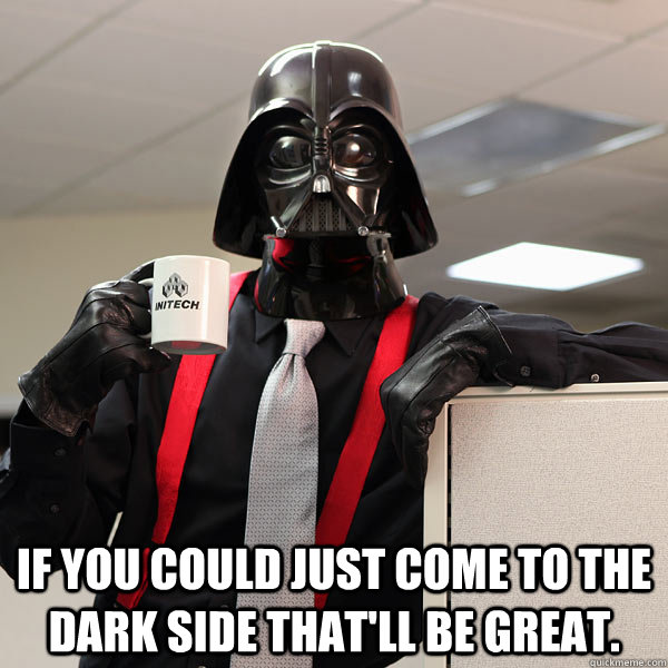 defeat the Dark Side...stop spam!