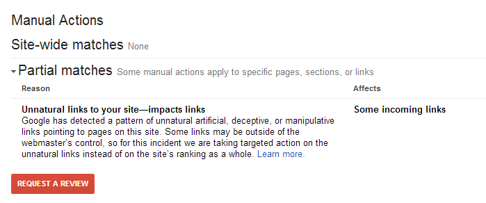 google-manual-action-links-warning