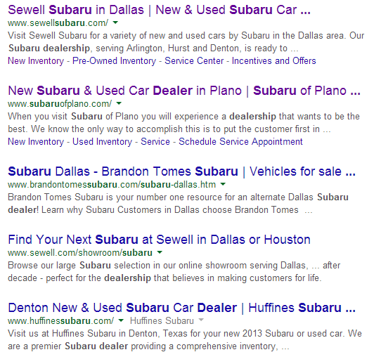 subaru search